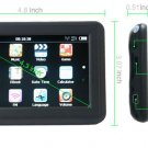 "New 4.3""  GPS Slim Design FM MP3/4 4GB FREE MAPS"