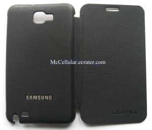 Black Flip Case cover for Samsung Galaxy Note N7000 I9220