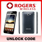 Samsung Galaxy Note Unlock Codes for Rogers