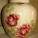 Ceramic Ginger Jar with Red Roses