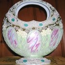 Noritake/Porcelain Jeweled Basket/Cameos/Circa 1910