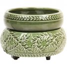 NEW Green Vines Design Flameless Electric Candle & Tart Warmer