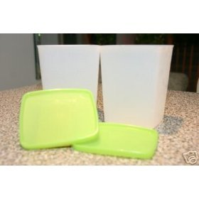 Tupperware Medium Deep Freezer Square Rounds Set of 2