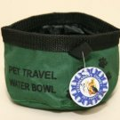 Large Dog/Pet Travel Water Bowl ~Green ~ NEW!