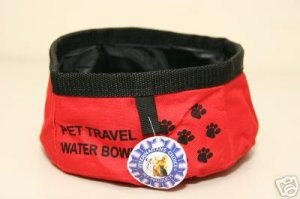 Large Dog/Pet Travel Water Bowl ~Red ~ NEW!
