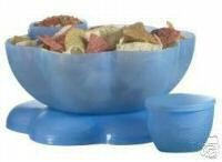 Tupperware Chip N Dip Set. Mixed Berry Blue