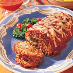 CHEESE-STUFFED MEAT LOAF