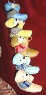 Children Curtain Tie Backs - Teddy Vested Bears CT 23