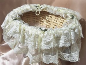 Storage Lace Baskets LB33 Candelight Cream