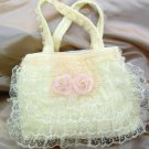 Victorian Lace Purse-Handbag- Baby Cream  LP23
