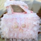 Victorian Lace Purse-Handbag- Baby Pink  LP23