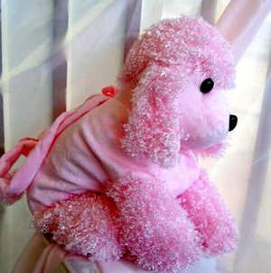 Poodle Handbag Purse for Children - Pink Large PB23