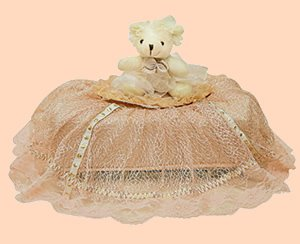 Children Tissue Box Cover Large-Lace Bear  CTC 45