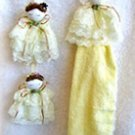 Set of Children Doll Curtain Tie backs and Doll Towel Ring