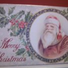 Victorian Merry Christmas Vintage reproduction sign with Santa Claus