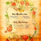 Vintage Marriage Certificate Victorian style personalized