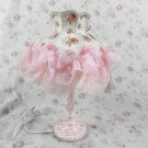 Vintage victorian style shabby chic antique lamp VL35 pink