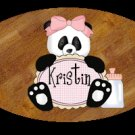 Little girl- baby girl bathtime personalized wood plaque/sign 7 X 5 (I pink)
