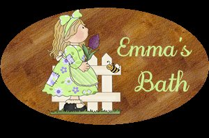 Baby girl bathtime/room personalized name wood plaque/sign 7 X 5 (H)