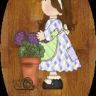 Girl bathroom wall decor idea -Baby girl bathtime personalized wall wood plaque-sign 8 X 10 (G)