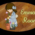Girl bathroom wall decor idea - Baby girl bathtime personalized wall wood plaque-sign 8 X 10 (L)