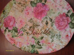 Victorian roses vintage shabby chic bath wall plaque VS24
