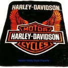 Harley Davidson twin - full size MINK  blanket NEW!