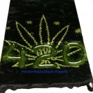 QUEEN KOREAN style MINK Marijuana \ Pot leaf 420 blanket NEW!