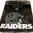 New NFL Oakland Raiders Plush Mink Blanket Twin - Full