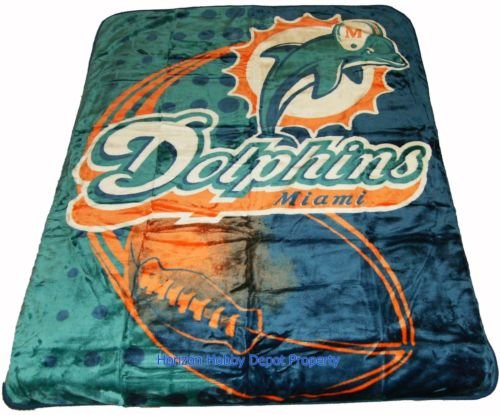 New NFL Miami Dolphins Plush Mink Blanket Twin - Full