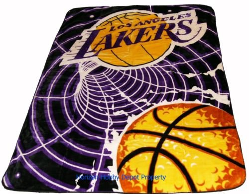 New NBA Los Angeles Lakers Plush Mink Blanket Twin - Full
