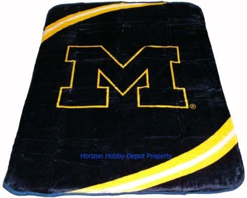 New Football Michigan Wolverines Plush Mink Blanket Twin - Full