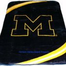 New Football Michigan Wolverines Plush Mink Blanket Twin - Full