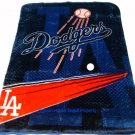New Baseball Los Angeles Dodgers Plush Mink Blanket Twin - Full