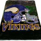 New NFL Minnesota Vikings Plush Mink Blanket Twin - Full