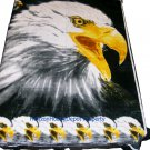 QUEEN KOREAN style MINK White Eagle blanket NEW!