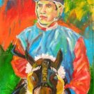MARIO VERGNE WORK ART OIL PORTRAIT PUERTO RICO JOCKEY