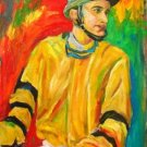 EZEQUIEL WORK ART OIL PORTRAIT PUERTO RICO JOCKEY