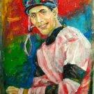 A. HERNANDEZ ART OIL PORTRAIT PUERTO RICO JOCKEY
