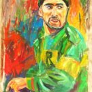 A. M. VIERA ART OIL PORTRAIT PUERTO RICO JOCKEY
