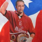 DANIEL SANTOS ART WORK OIL PORTRAIT PUERTO RICO BAYAMON