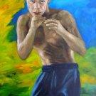 NELSON DIEPPA ART WORK OIL PORTRAIT PUERTO RICO VIEQUES