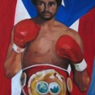 CARLOS SANTOS ART WORK OIL PORTRAIT PUERTO RICO