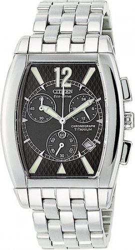 Citizen AT0080-56E Titanium San Remo Chronograph Black Dial Men's