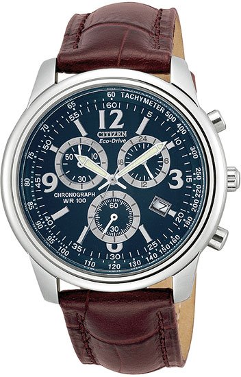 Citizen AT0120-02L Eco-Drive Chronograph Strap Men's