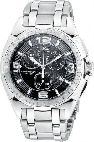 Citizen AT0140-56E Eco-Drive Stainless Steel Chronograph Men's