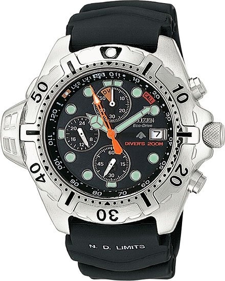 Citizen BJ2000-09E Aqualand Chronograph Chrono Aqua Men's