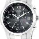 Citizen BL7130-54E Eco-Drive Stainless Steel Alarm Chronograph Black Dial Men's