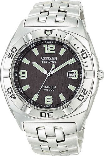 Citizen BM0960-59E Eco-Drive Titanium Professional Diver Blue Dial Men's