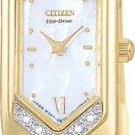 Citizen EG2082-55D Eco-Drive Silhouette Gold Plate Diamonds Ladies